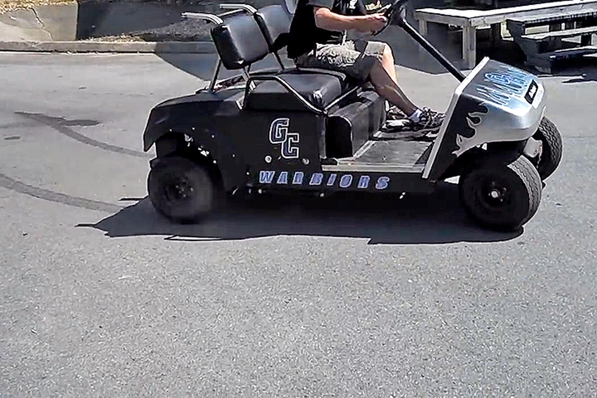 Watch A V8-Powered Golf Cart Blast Through 18 Holes
