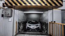 White Lamborghini Veneno Roadster