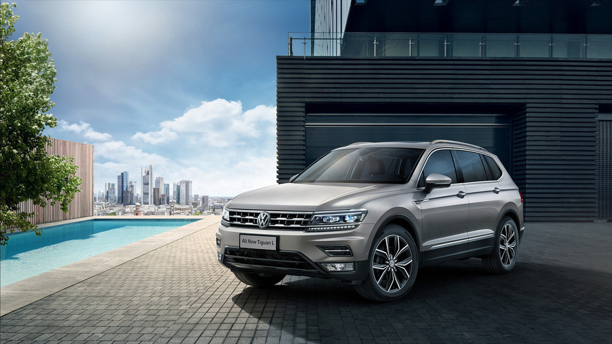VW Tiguan Allspace first official images emerge