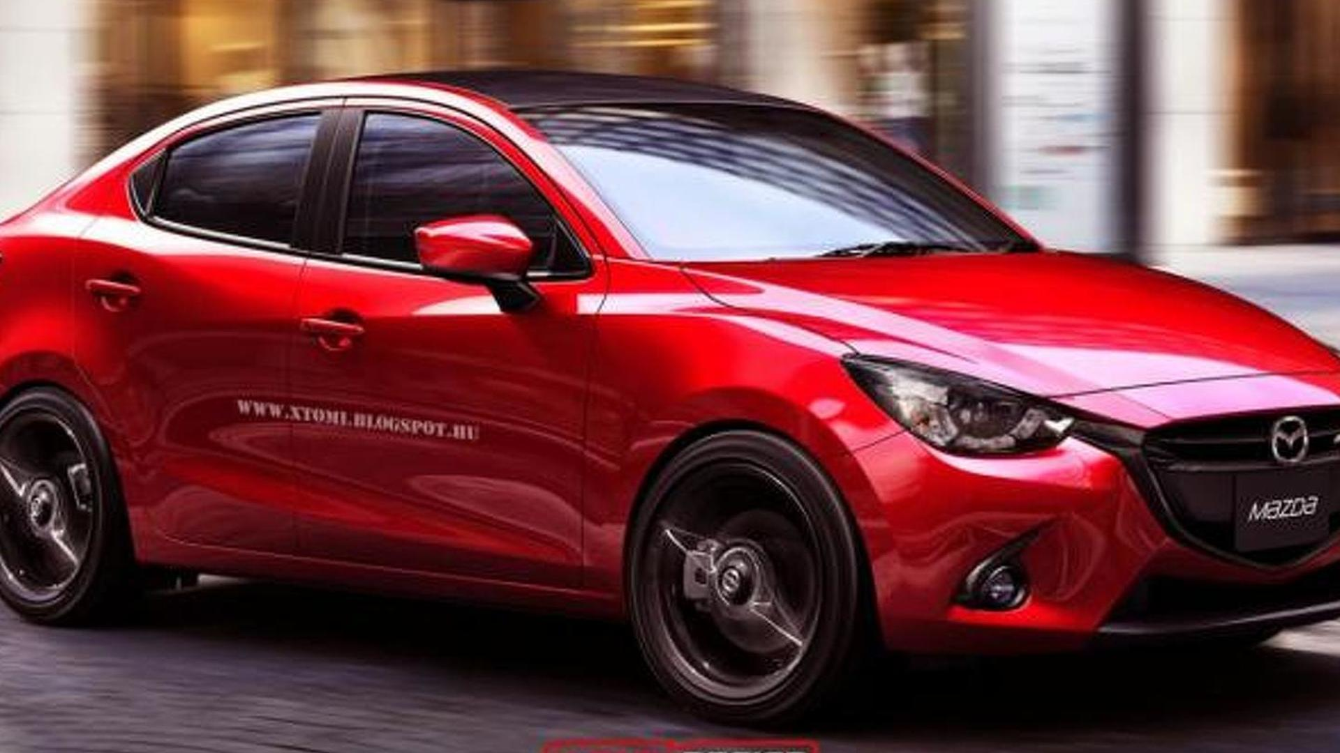 Mazda2 MPS Sedan and Mazda2 Coupe rendered