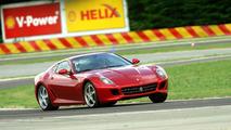 Michael Schumacher takes the Ferrari 599 GTB HGTE for a spin