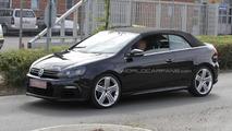 Volkswagen Golf R Cabrio spied again