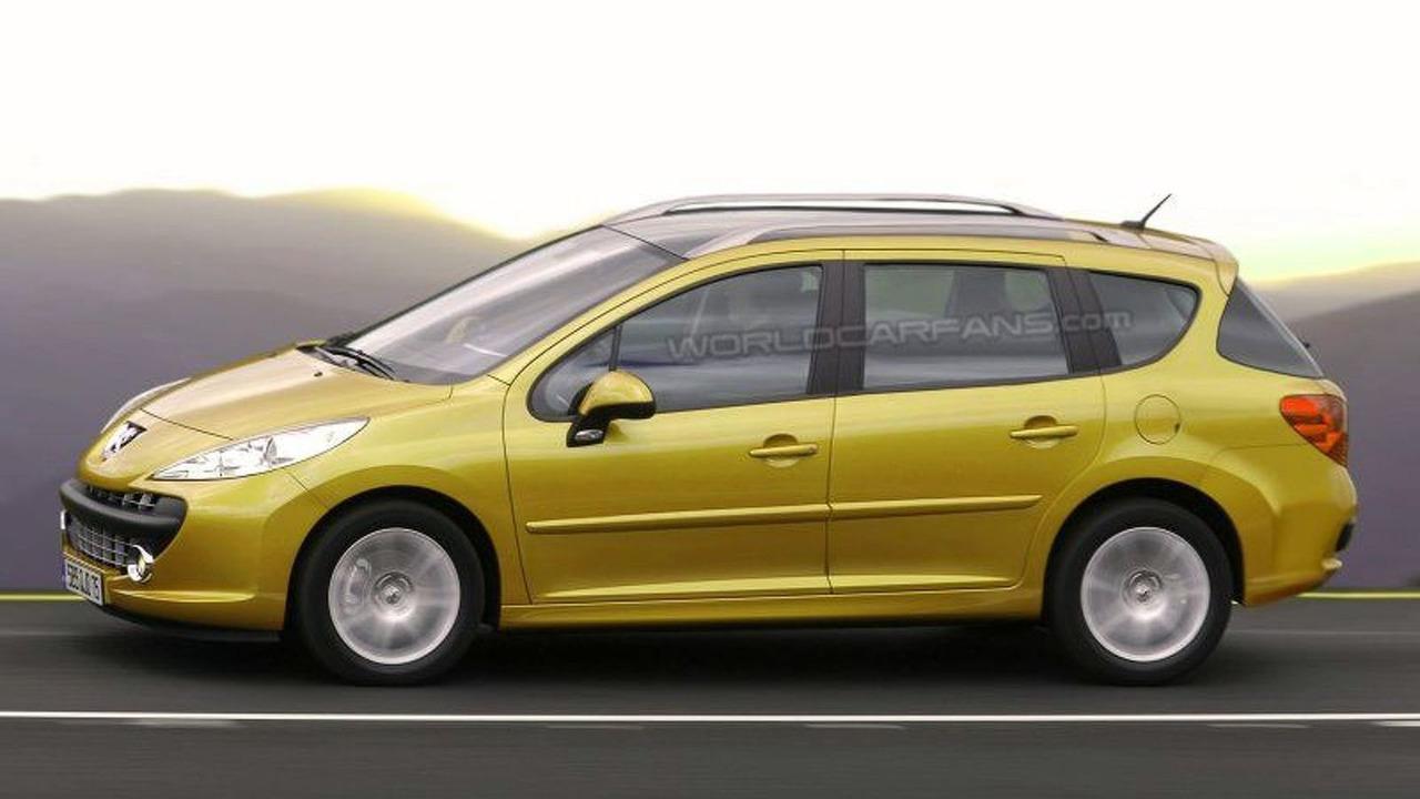 Peugeot 207 SW artist interpretation