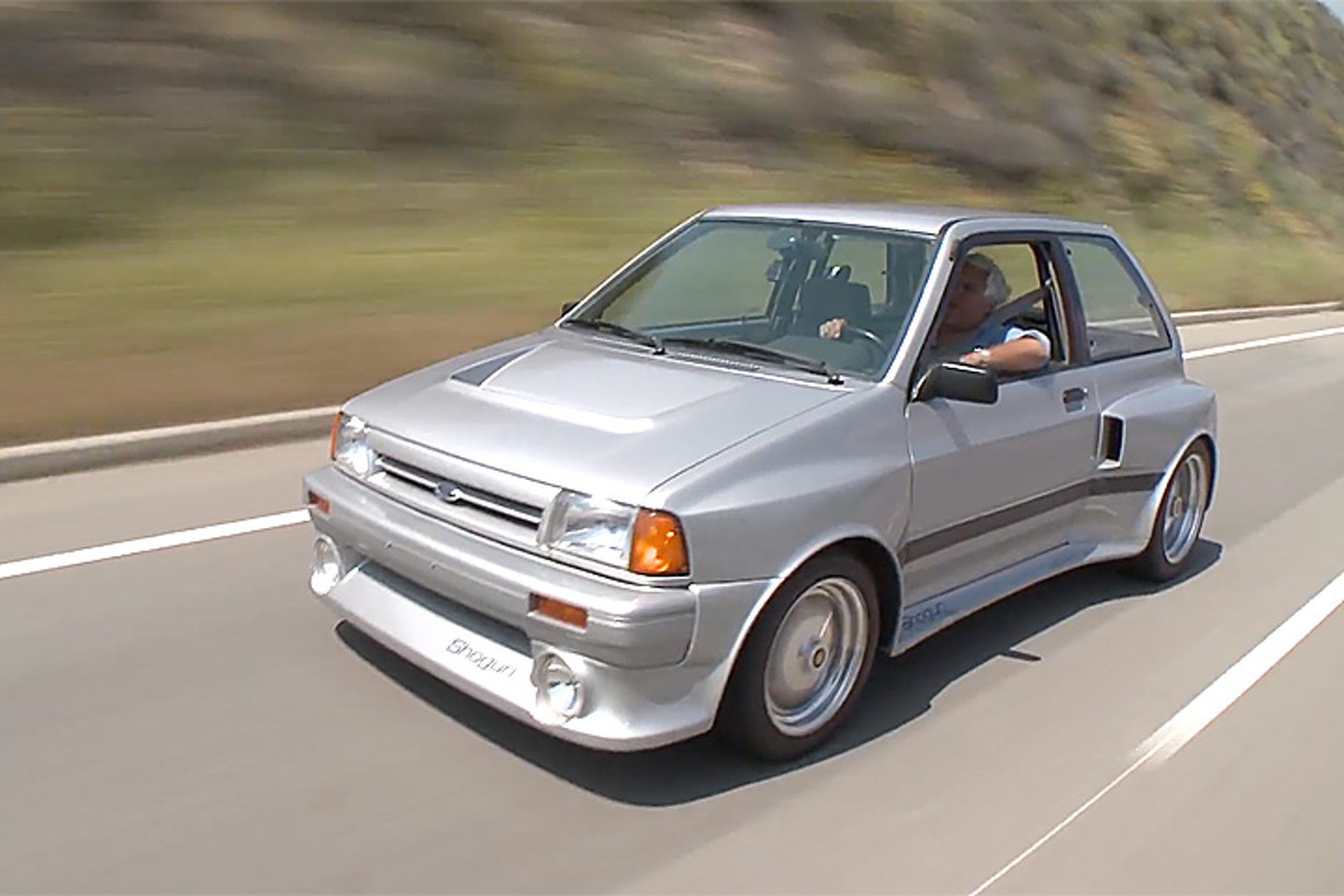 Watch Jay Leno Drive Ford's Sleeper Supercar, the Festiva Shogun