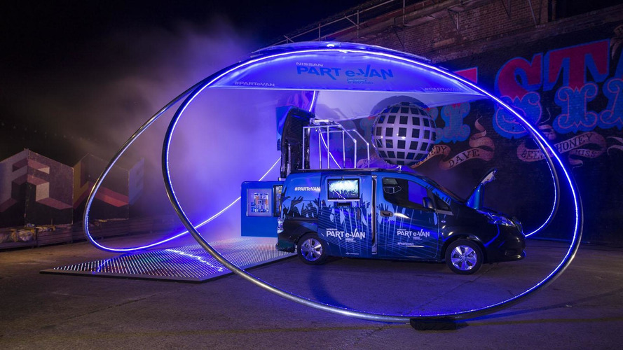 Nissan PART e-VAN unveiled with an automatic cocktail machine