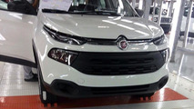 Fiat Toro photographed on the assembly line