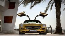 Mercedes SLS AMG Desert Gold