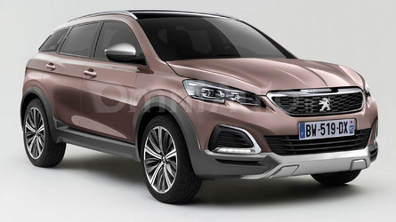 2016 Peugeot 3008 render shows transition to crossover