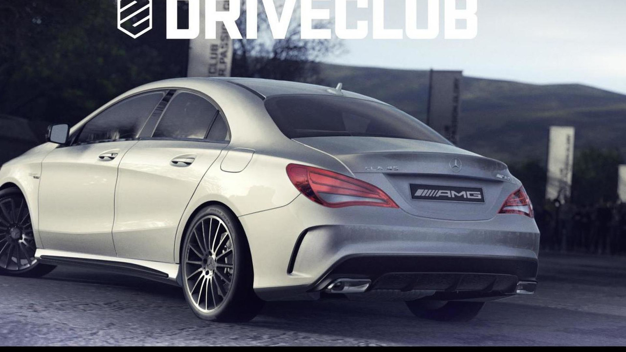 Mercedes-Benz CLA 45 AMG in Driveclub racing game for PlayStation 4