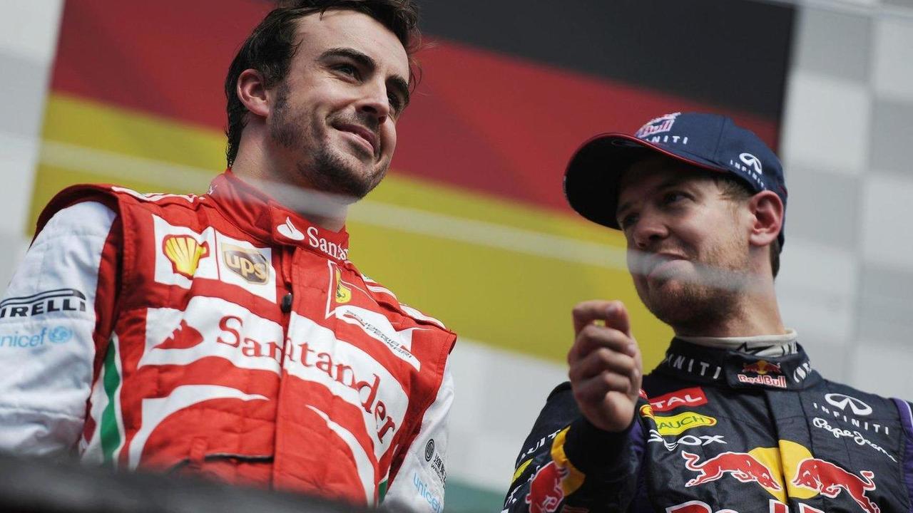 Fernando Alonso with Sebastian Vettel 09.06.2013 Canadian Grand Prix