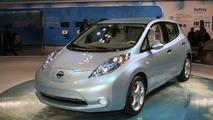 Nissan Leaf EV live at Tokyo Motor Show 2009