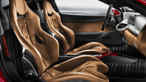 Chamois leather seats, the diamond-quilted fabric and dashboard in fibreglass of 458 Spider, Tailor-Made program 07.12.2011