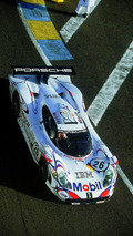 The 911 GT1 which won in Le Mans in 1998