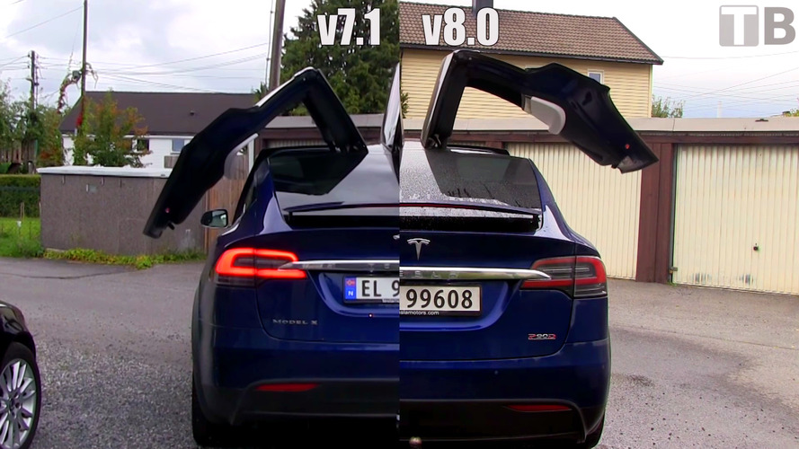 Tesla v8.0 update makes Model X's rear doors open and close faster