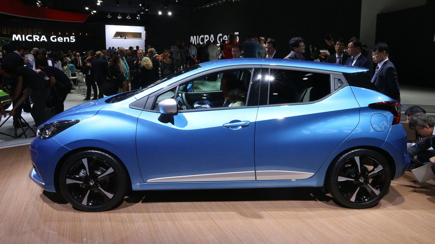 2017 nissan micra debuts with rad style smart tech. Black Bedroom Furniture Sets. Home Design Ideas
