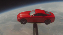 Ford Mustang model in space