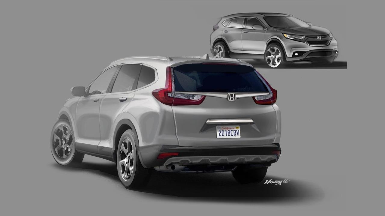 2018 Honda CR-V render by Motor1 reader