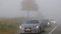 Lexus LF-LC spied testing alongside the Porsche 911