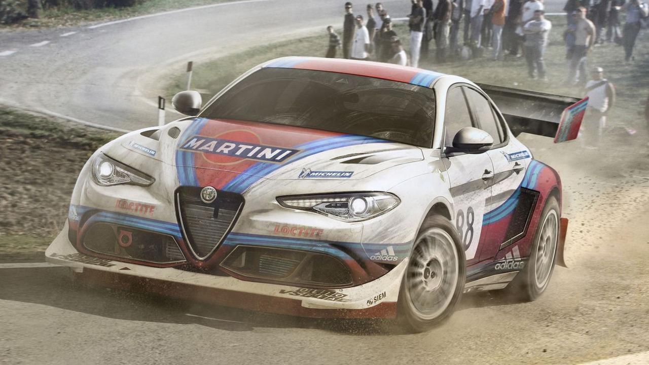Alfa Romeo Giulia rally car