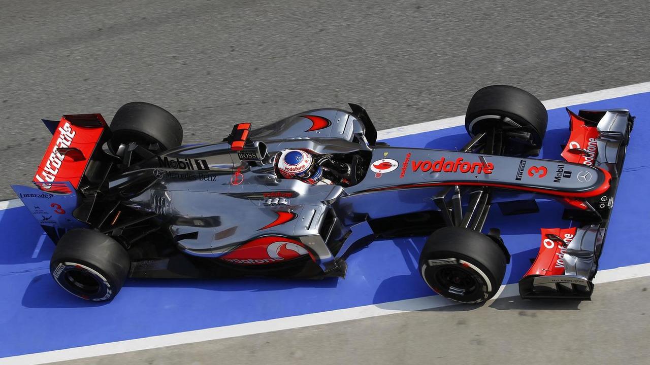 Jenson Button during Malaysian Grand Prix qualifying