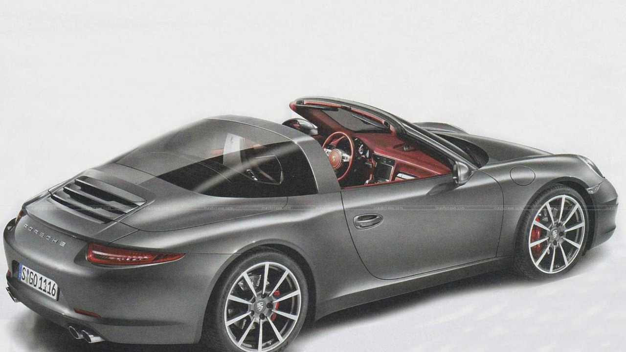 2015 Porsche 911 Targa artist rendering