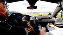 Onboard video with McLaren P1 lapping the Donington Park race track