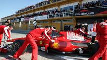 Fernando Alonso (ESP), Ferrari F10, tests a different helmet, 03.02.2010, Valencia, Spain