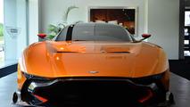 Aston Martin Vulcan with orange paint