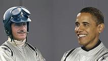 President Brack Obama & Grahm Hill as the Stig