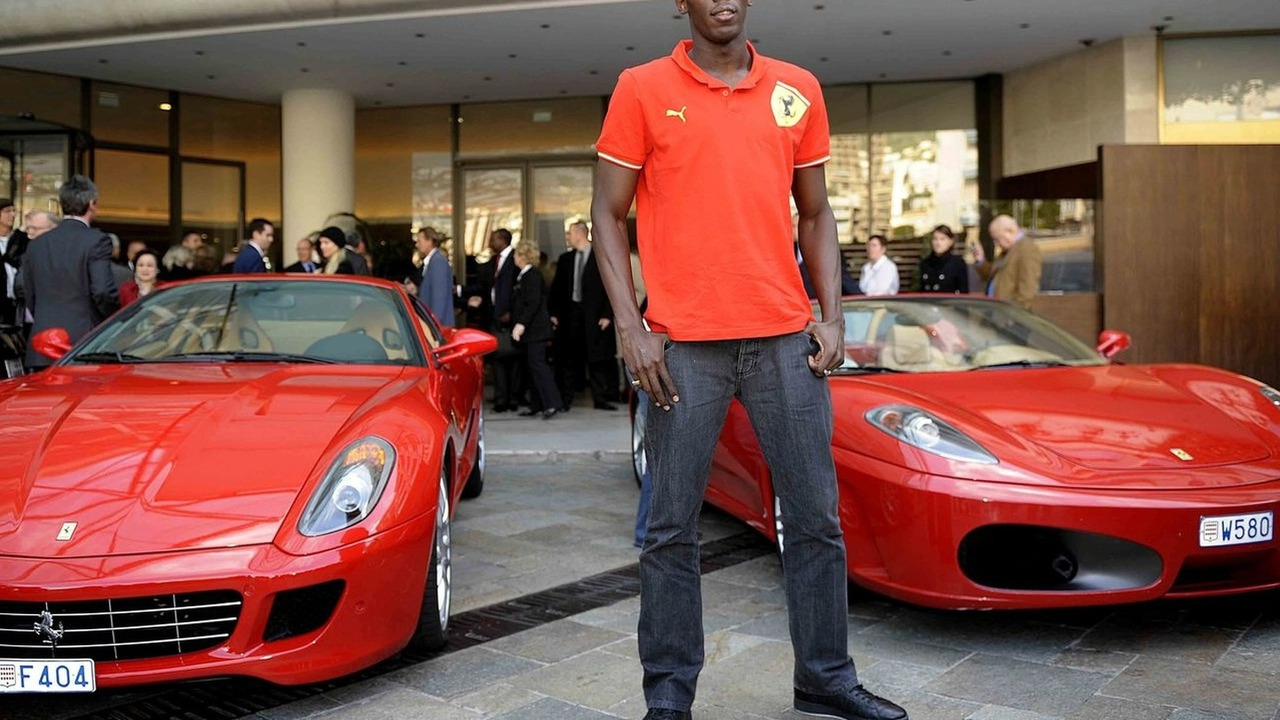 Usain Bolt with F430 Spider
