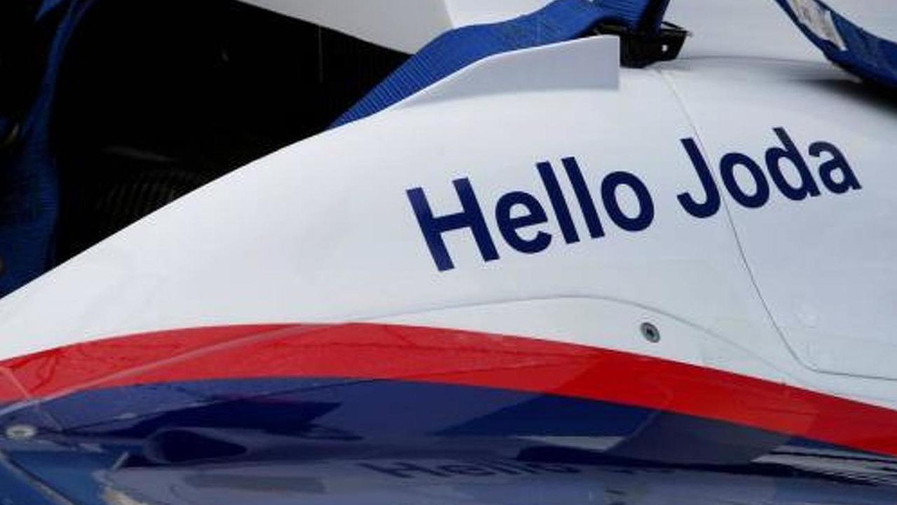 A message on the car of Nick Heidfeld (GER), BMW Sauber F1 Team for his new born daughter Joda, European Grand Prix, 22.07.2007 Nürburg, Germany