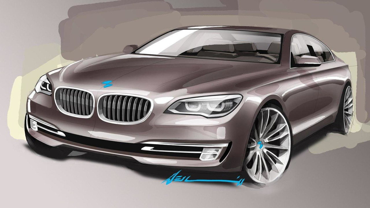 2013 BMW 7-Series facelift design sketch 25.04.2012