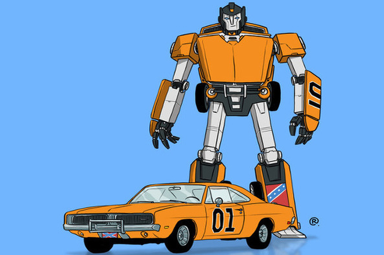 Artist Turns Iconic 1980s Film and TV Cars into Transformers