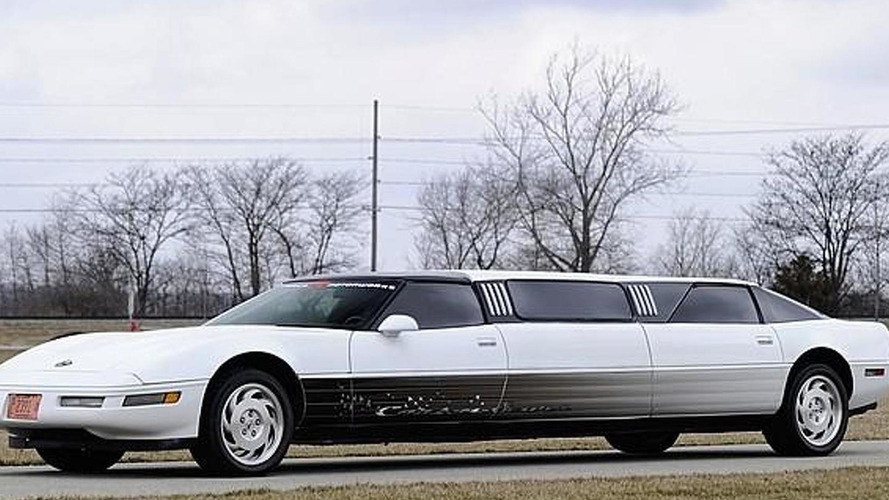 1994 Corvette C4 transformed into a limousine to be auctioned