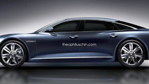 Jaguar C-XJ flagship model rendered with Giugiaro GEA influences