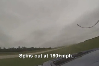 Mitsubishi Evo Crashes at 180 MPH, Drives Home [video]
