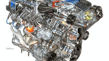 6.2 liter LS9 engine produces 638 hp