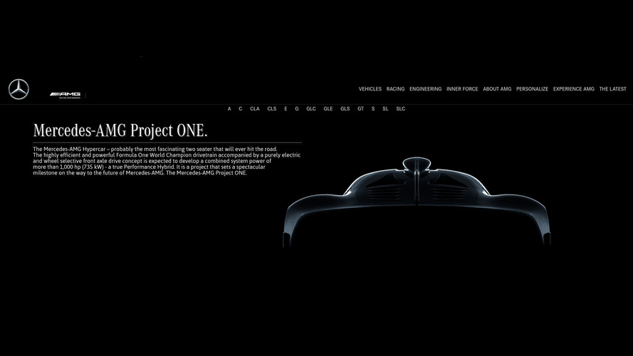 Mercedes-AMG hypercar officially named Project One