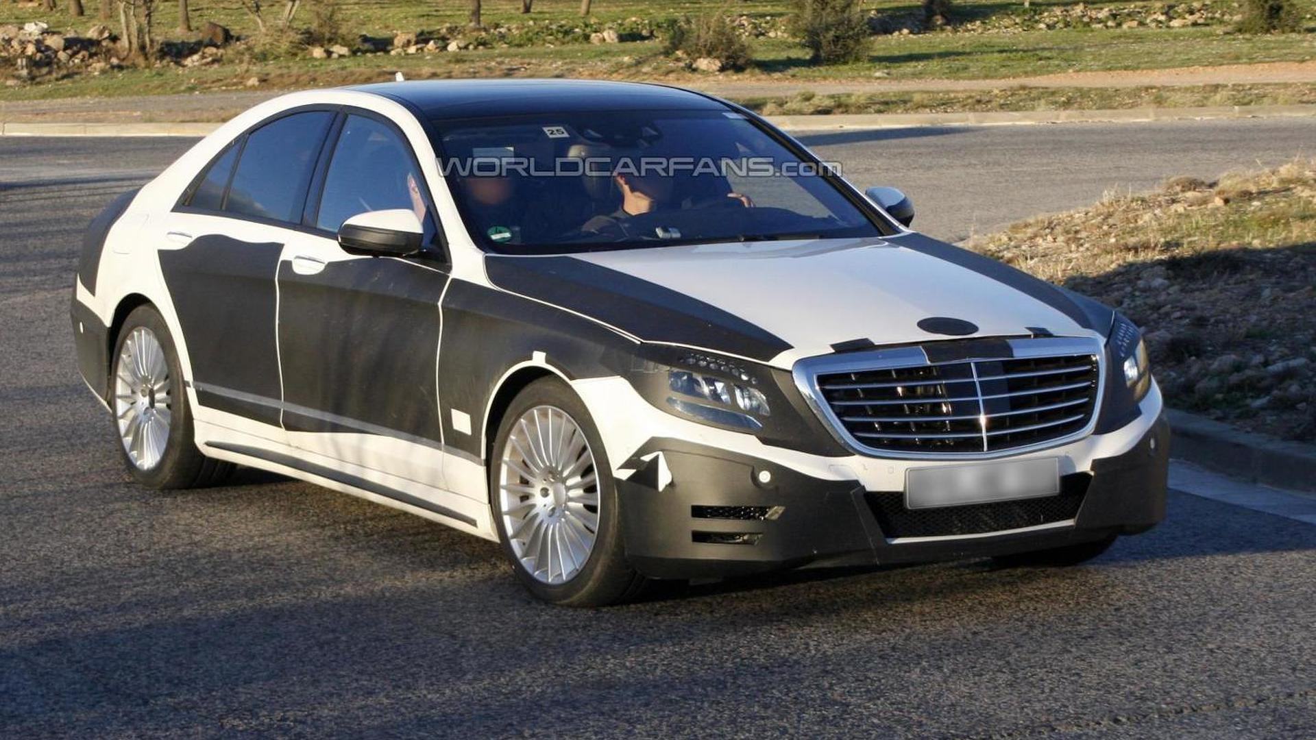 2013 mercedes benz s class spied showing more skin for Mercedes benz 2013 s550