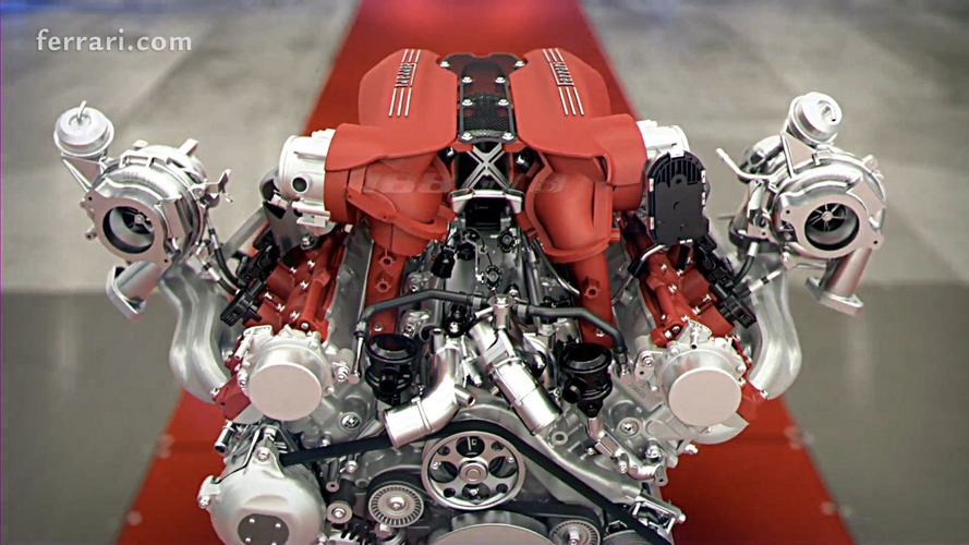 Ferrari 488 GTB engine animation is fascinating to watch