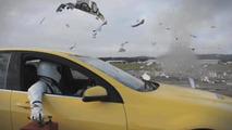 Top Gear celebrate 10 millionth facebook fan! Blows up caravan [video]
