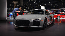 Audi R8 Exclusive Edition uses its laser beams to light up L.A.