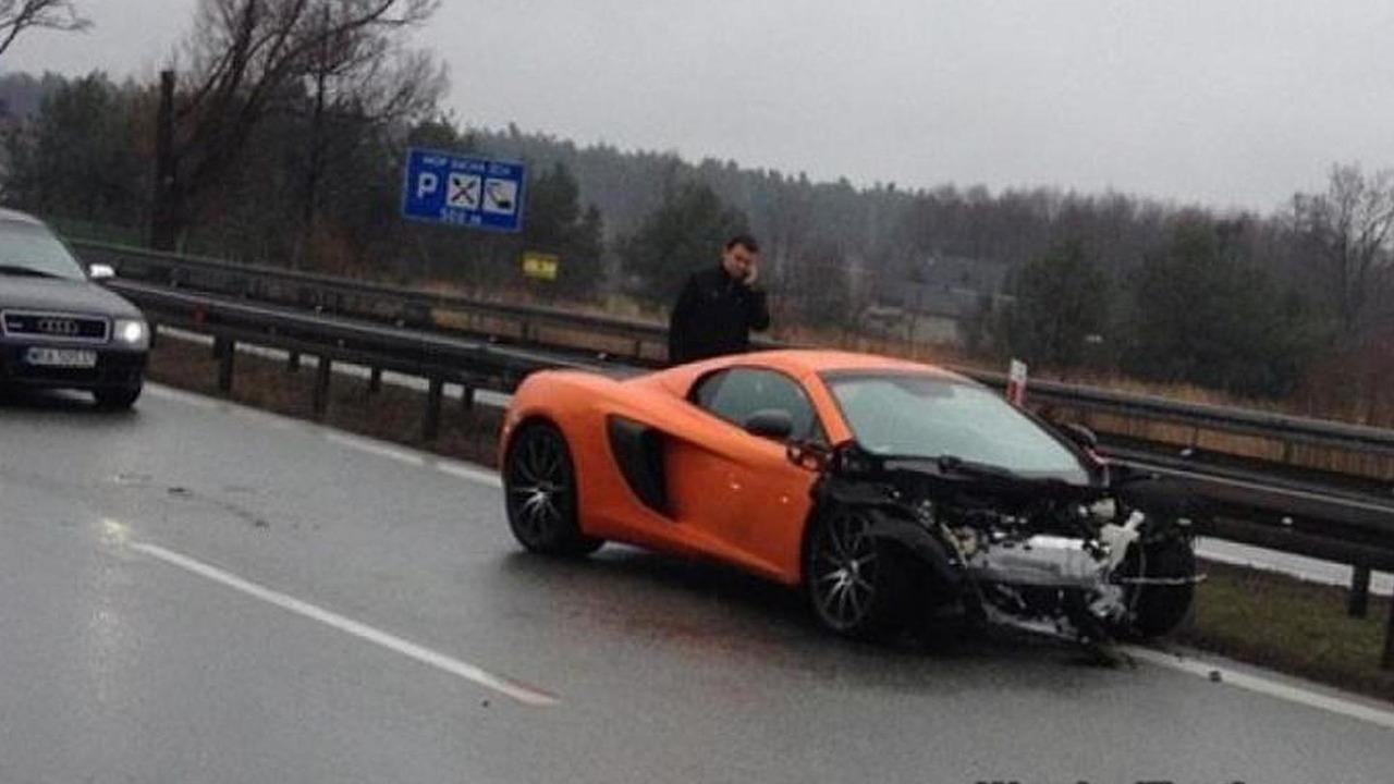 McLaren 650S crashed in Poland / WreckedExotics