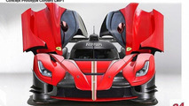 LaFerrari LMP1 race car rendered, previews rumored Ferrari Le Mans returning