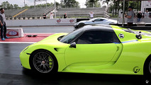 Rimac Concept One drag races a Porsche 918 Spyder