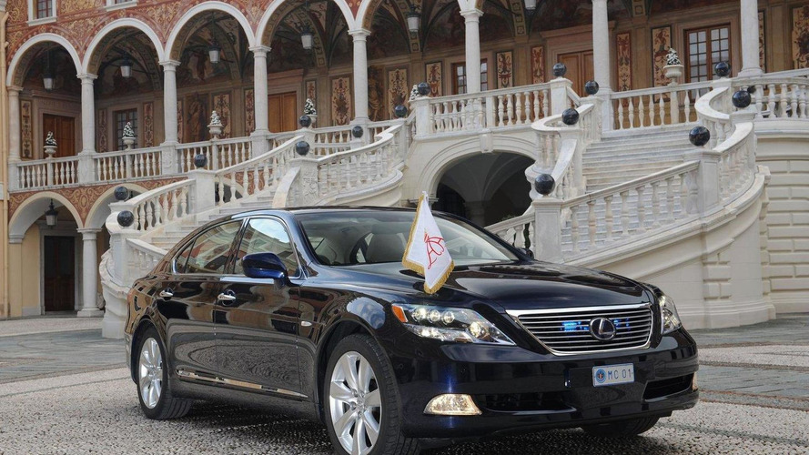 Special Lexus LS 600h L official car at royal wedding of Prince Albert