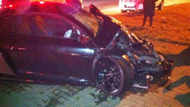 Audi R8 GT and Range Rover Evoque crash in Johannesburg