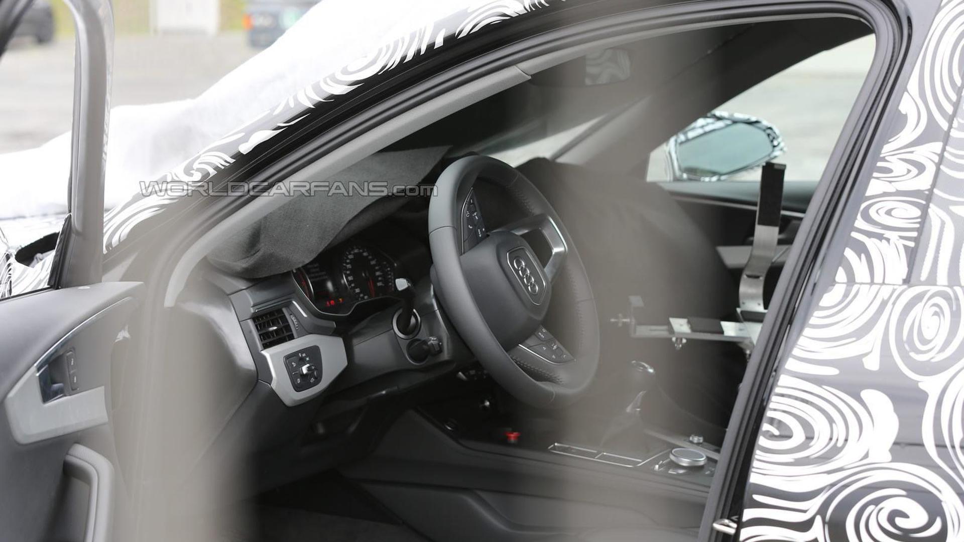 2016 Audi S4 Avant interior partially revealed in latest spy shots