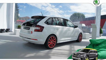 Skoda Rapid Spaceback Red & Grey Collection debuts at Worthersee