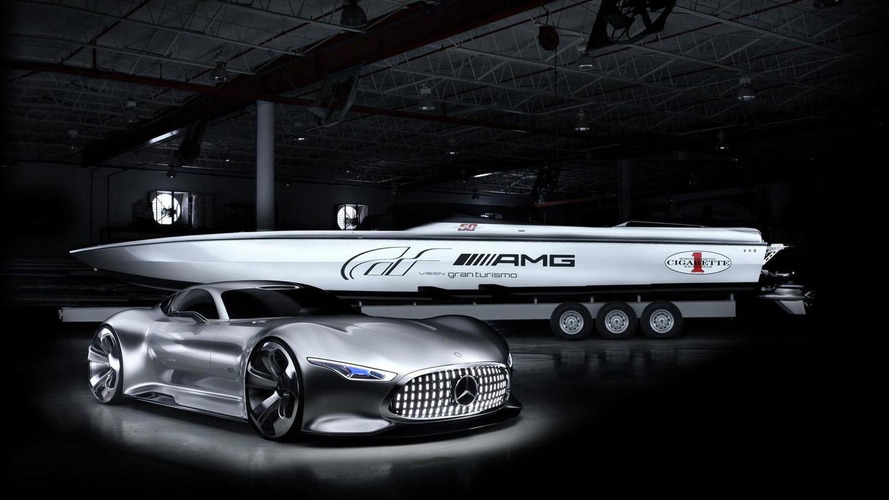 Cigarette Racing Vision GT boat unveiled, inspired by the Mercedes AMG Vision Gran Turismo